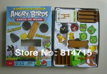 Free Shipping Plastic Bird Toys Desktop Bird Games Slingshot Bird Toys
