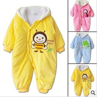 Retail 1pcs free shipping top quality! 2013 Winter Thick cotton Baby Romper Children toddler cotton jumpsuit 3 animals style