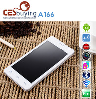 Daxian A166  Cellphone Dual Core 1.0GHz  MTK6517  512MB Ram 4GB Rom 4.5 inch 5MP Android 4.1 Dual SIM  FM MP4