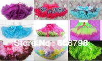 Promotion Baby kids girls fluffy dance wear pettiskirts cute chiffon tutu princess skirts Free shipping