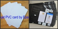 Dual Double Side Inkjet Printing Blank White PVC cards 230pcs + card tray 2pcs