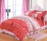 South Korean princess princess wedding suite cotton bedding four salsa princess-2