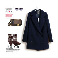 2013 Hot Sale winter women coat woolen material Vintage coat size S/M/L in stock