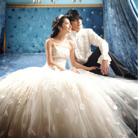 2013 wedding princess tube top fluffy wedding dress hs086