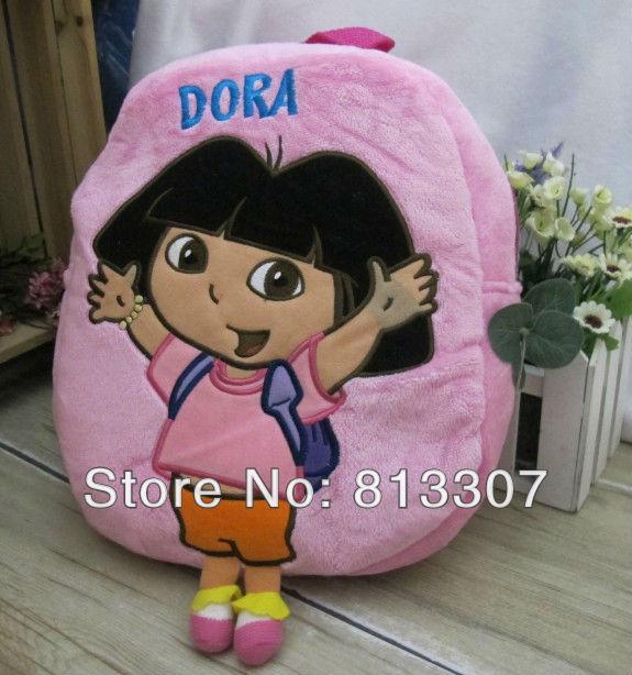 Grátis frete Dora the Explorer escola Plush mochila 12 '' marca novo atacado(China (Mainland))