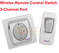 Free Shipping Wireless Remote Control Switch Wall Light Switch 3 Channel Port