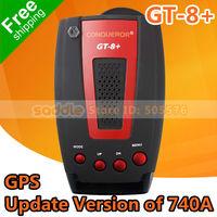 100% Orginal Conqueror GT-8+ Update of 740A GPS Radar Detector with Russian Voice Alarm Systems X K KA KU Ultra X Ultra K Band