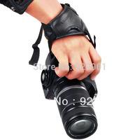 2pcs Camera Black Leather Soft Wrist Strap/Hand Grip for Canon Nikon Sony SLR/DSLR