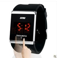 Hot Sale Watch male fashion watch women's table touch screen led electronic watch child table jelly table  Free Shipping
