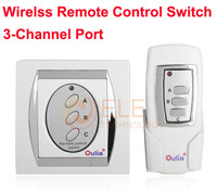 Brand New Free Shipping Home/Office 3-Channel Digital Wireless Remote Control Switch Power Lamp Switch with Retail Package