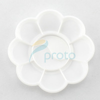 Freeshipping - 50pcs White Color Acrylic Mixing Paint Draw Palette flower Nail Art Dish SKU:F0085XXX