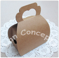Free Shipping DIY Paper Party Cake Box Baking Favors Packaging  - brown 80pcs/lot C0036
