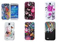 10pcs/lot free shipping New Flower Hard Back Case for Sansung Galaxy S4 Mini i9190 Back Cover