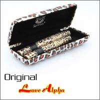 Waterproof LOVE ALPHA Transplanting Gel Natural Fiber Mascara with Panther Leopard Case 2 Sets=4 PCS Mascaras Set