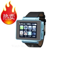 Hot Sale Watch mobile phone waterproof water i8 gps map multifunctional webcam  Free Shipping