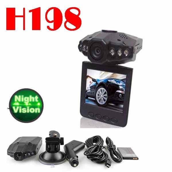 Автомобильный видеорегистратор 50% SHIPPING FEE 20 pieces Car Black Box H198 with 6LED+120degree, camera SC189
