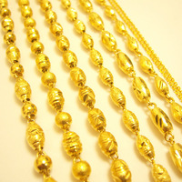 Christmas gift Pure gold Gold male hollow necklace coarse accessories gold solid necklace 999 fine gold chain