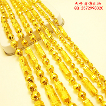 Christmas gift Pure gold Chow TAI FOOK gold necklace solid bamboo gold solid chain thick and long wedding jewellery