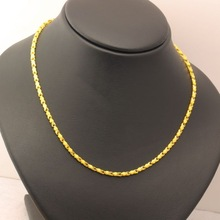Pure gold Marriage accessories alluvial gold necklace gold solid necklace gold