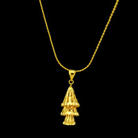 Christmas gift Pure gold Personalized 18k gold necklace alluvial gold necklace the bride accessories gold solid necklace
