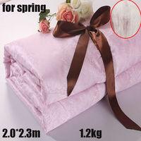 1.2KG Queen size 200*230cm Summer/Spring handmade 100% mulberry silk Comforter/Quilt/Duvet/Blanket Free shipping