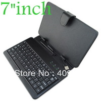 "Wholesale 1ps/lot  USB Keyboard Leather Cover Case Bag for 7"" Tablet PC MID PDA VIA 8650 , Free Shipping U1"