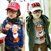 Spring autumn tiger children's clothing wholesale children sweatshirts kids baby boy long sleeve T-shirt  Free shipping!