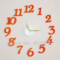 Digital clock creative concise wall clock, the sitting room the bedroom of children room and other personal clock free freight