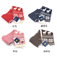 Snow deer winter scarf for children Crochet scarf winter autumn warm kids scarf free shipping