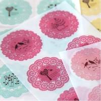 Creative flower paper stickers handmade scrapbooking paper sticker 10sets/lot free shipping