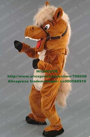 New Laughing Horse Mascot Costume Fancy Dress Cartoon Character Mascotte Mascota No.3671 Free Ship