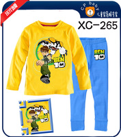 free shipping cartoon Ben 10 baby long sleeve tshirts+ long trouser homewear kids sleepwear 6 sets/lot ,XC-265