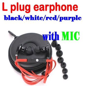 50% shipping fee 20 pieces High Quality Best Noise Cancelling 3.5mm L plug headphone Stereo earphone with mic in storage case