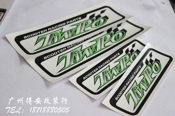 High temperature twpo advertising stickers fm yw ncy rpm