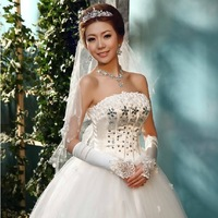 Plus Size Wedding Dress 2013 Tube Top Princess Dress White Bandage Dress Sexy Brief Wedding Dresses