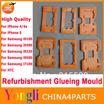 1pc  QUALIY LCD Refurbished Glass Mold Refurbishment Glueing Mould Repair For iPhone For Samsung For HTC LCD Outer Glass Lens