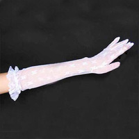 The bride wedding gloves white lengthen gloves pianbu breathable summer wedding formal dress gloves