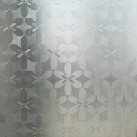free shipping Flower paper - Emboss grilles glass stickers scrub transparent bathroom window glass film