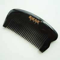 Yak buffalo horn comb Small pocket child comb natural