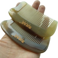 White yak horn comb child Small portable pocket natural