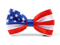 "Free shipping- Men's Unisex ""USA FLAG"" Tuxedo Dress Bow tie New Style fashion party wedding bow tie for men"
