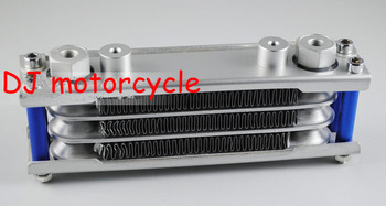 High performance monkey bike aluminum oil cooler   50-140cc horizontal engine oil cooling kits   Dirt bike engine kits cheap