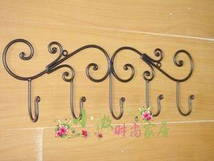 Free Shipping 10 Pcs/Lot Wrought iron furniture iron hook fashion rustic iron hook iron hook coat hooks