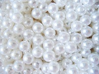 300pcs Acrylic Pearl Beads ,Acrylic Chunky Beads, Imitation Fake Pearl Beads for Necklace Jewelry 8mm