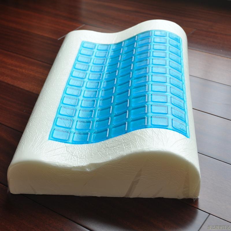 High quality memory foam gel cool memory pillow,size 30*50cm.free shipping(China (Mainland))