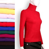2015 women's Turtleneck sweater thickening Slim warm sweater with high collar and long sections