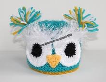 free shipping,5000piece/lot Lovely red Owl Design Baby Boy Girls Handmade Knit Crochet Beanie Hat Cap Photo Prop(China (Mainland))