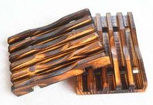Free FEDEX Shipping Natural Pine Tree charring Wooden Wood Dowel Soap Saver Dish Rack Deck Wholesale Dropship(China (Mainland))