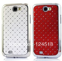 Luxury Diamond Bling Rhinestone Cover Case For samsung galaxy note2 II,free shipping+MOQ:1PCS