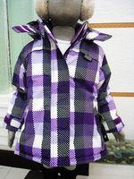 Children's clothing children ski suit purple wadded jacket outerwear children outerwear